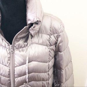 ana puffer down silver coat L
